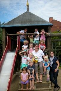 Übergabe der Spende an den St. Nikolaus-Kindergarten Bad Iburg